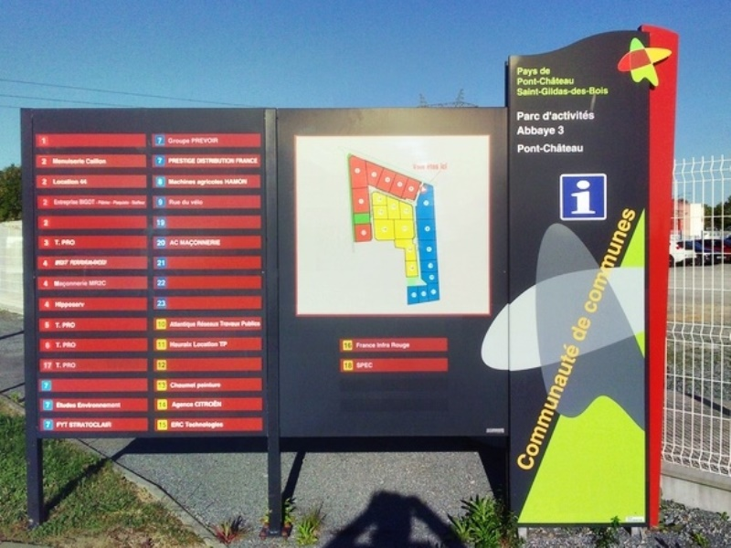 RIS avec totem signa parc d'activités